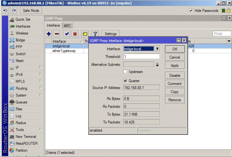 Настройка IPTV на роутере MikroTik для провайдеров ростелеком, билайн